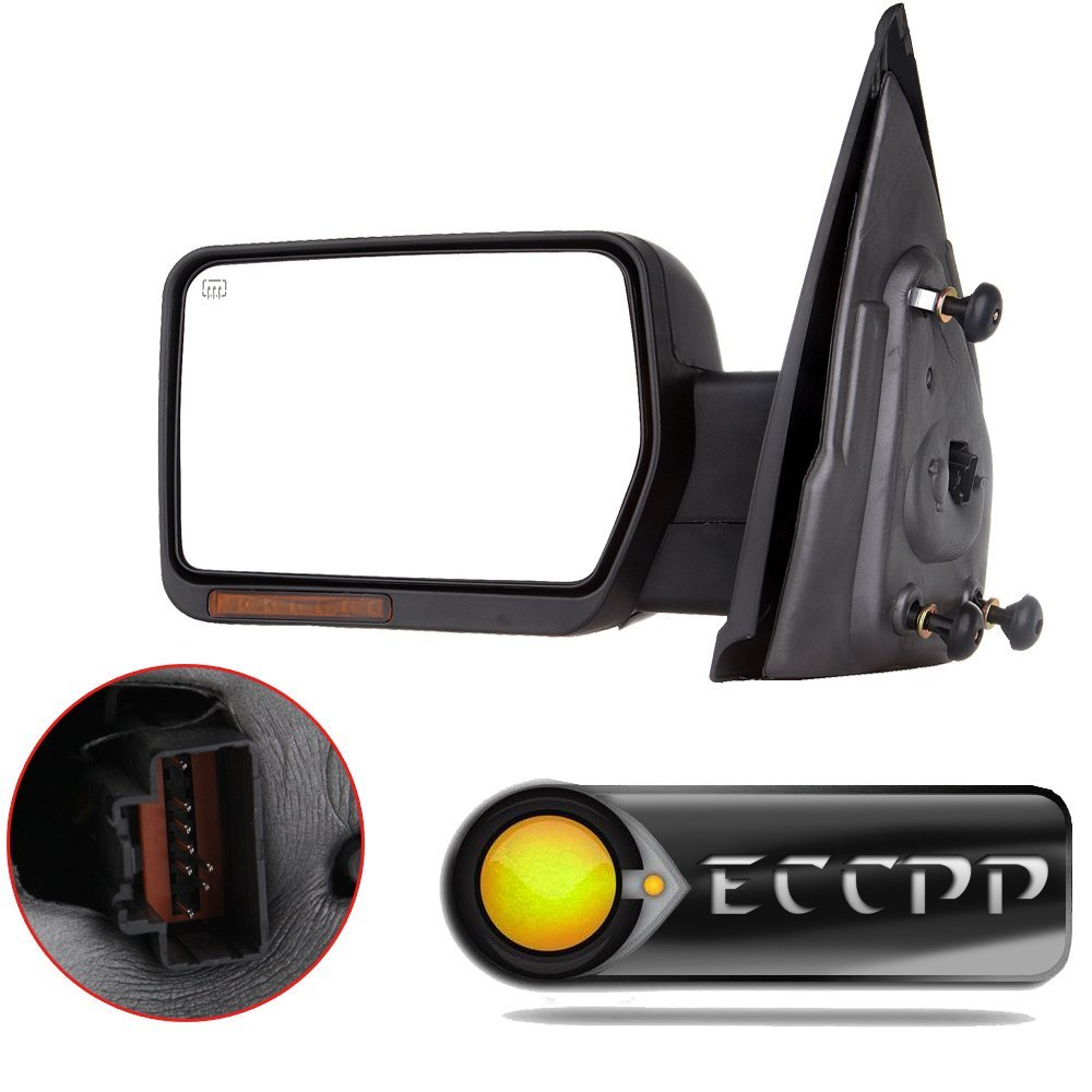 ECCPP Chrome Driver Side View Mirror For 2004-2014 Ford F-150 Power Heated Puddle Signal Light