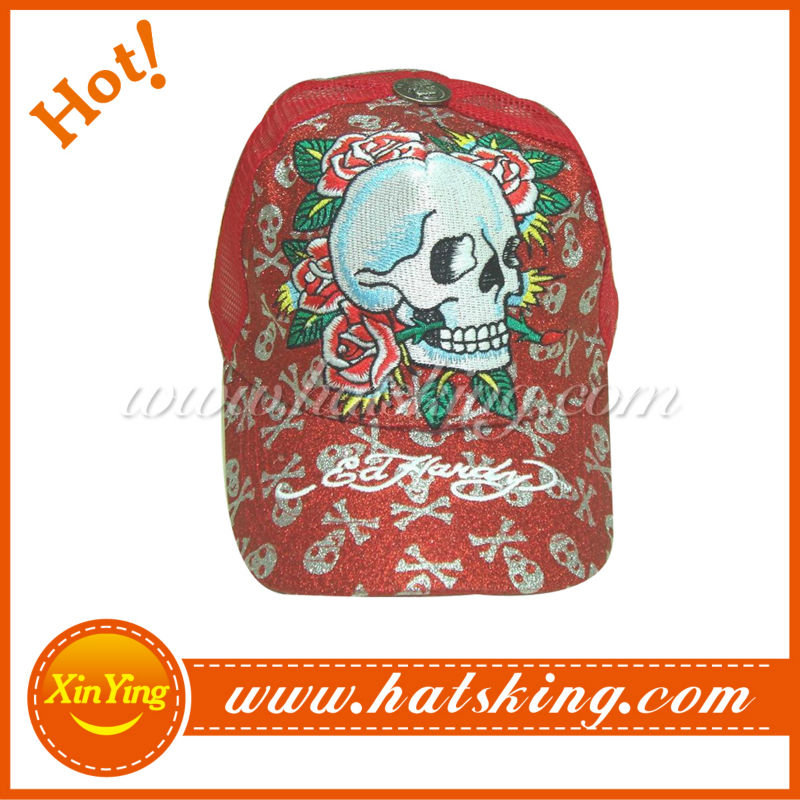 fashion new design ed hardy cap skull baseball hat