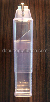 transparent plastic packing <strong>tube</strong> 41*41*124.5mm
