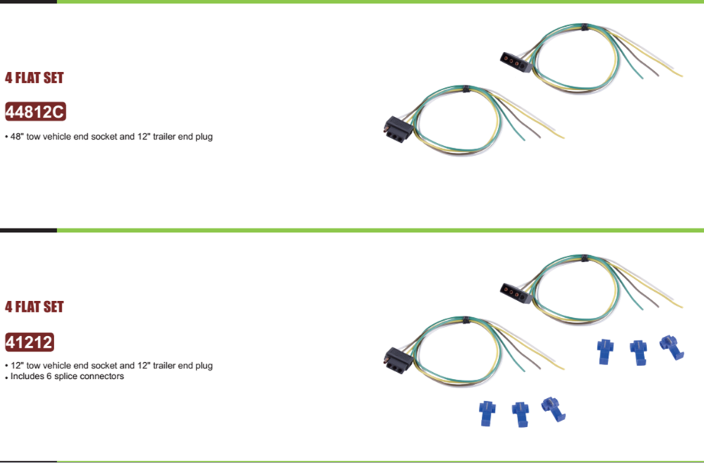 Us Wishbone Style Trailer Wiring Harness Kit With 4