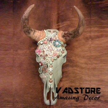 Crystal Wearings Deer Head Skull Decor Amazing Themed Home Christmas