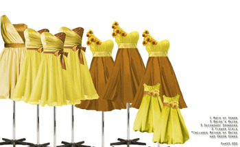 Yellow entourage dress