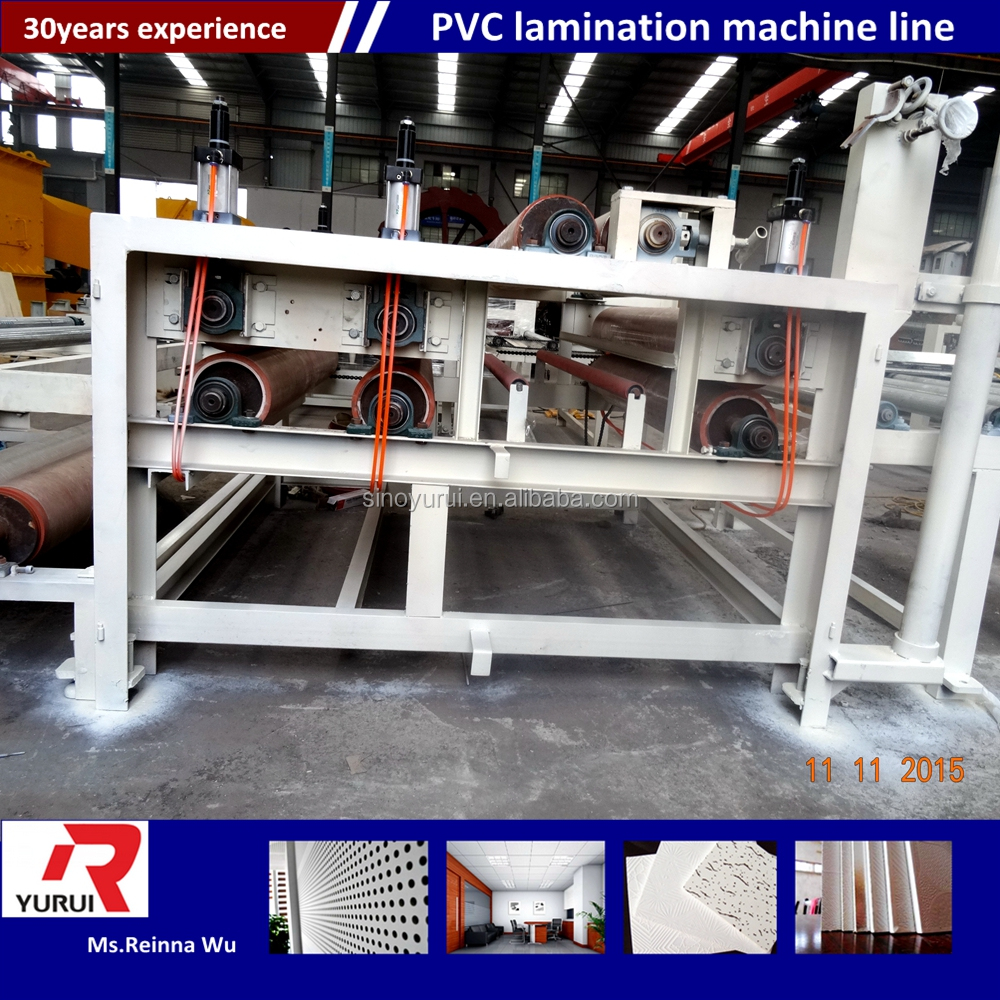 pvc and aluminum foil gypsum board laminated production line/Machine/Plant/Equipment