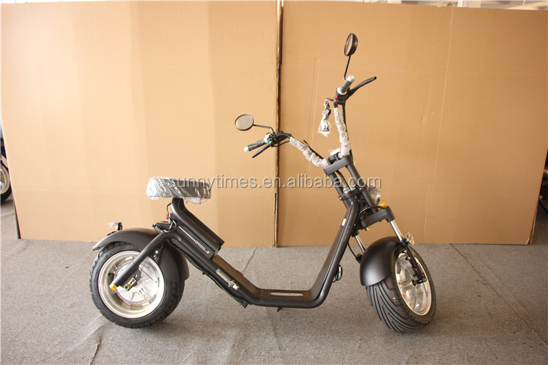 2 wheel 2000W citycoco Electric Scooter With Seat 60V Lithium Battery and bluetooth speaker