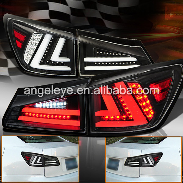 For LEXUS IS250 LED Tail Lamp Black Housing 2006 to 2012 year JY