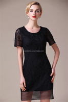 Best Quality Factory Price Plus Size Dress New lady Embroidered dress in 2016