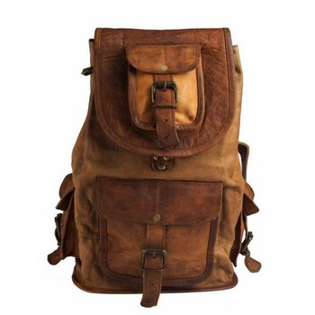 Leather Laptop Backpack Bags