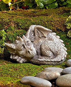 Resin Sleeping Dragon Garden Statue