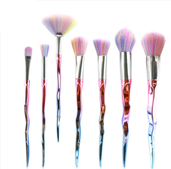 colorful plating gradient cosmetic brushes sword handle