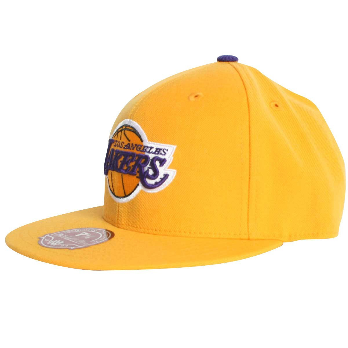 960f98721ce5b Get Quotations · NBA Mithchell   Ness Los Angeles Lakers Purple Vintage  Logo Fitted Hat