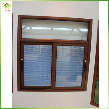 High quality with blinds aluminum bay slidling windows for Best blinds for casement windows