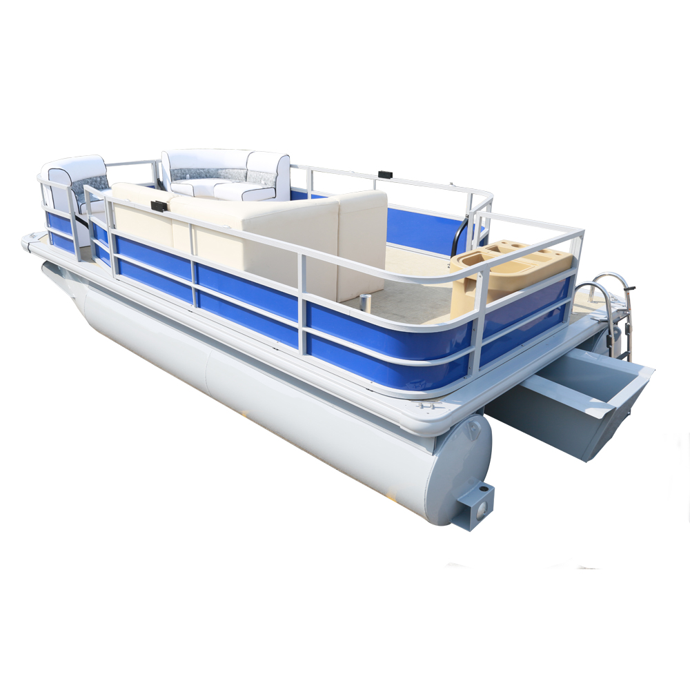 12-person Inflatable Aluminum Party Floating pontoon Pontoon Boat Made in China