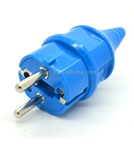 250V 16A IP44 Waterproof Germany French European EU Plug 2 pin electric industrial power plug &socket