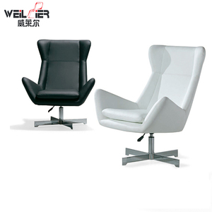 Modern leather upholstered lounge leisure relaxing chairs comfortable high back armchair