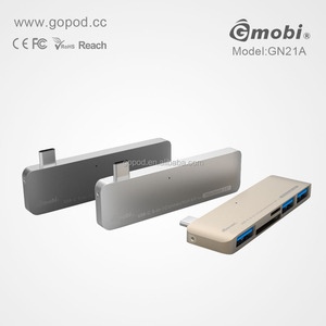 Gopod 2017 usb-c hub bluetooth fm radio usb sd card reader speaker usb por hub