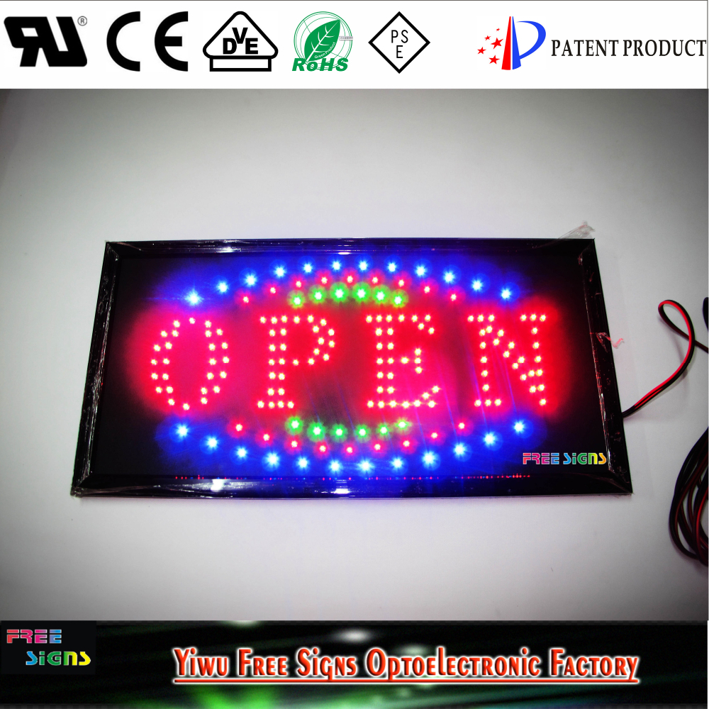 12V battery LED OPEN <strong>SIGNS</strong> for all business/DC 12V 19''x10'' LED open SIGN board, SAE battery powered LED neon open <strong>signs</strong>