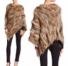 YR104 Top Quality Chinese Factory Wholesale Real Raccoon and Rabbit Fur Shawls Women