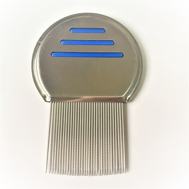 Lice Nit Tick Louse Flea comb made of long grooved stainless steel pins selling agent
