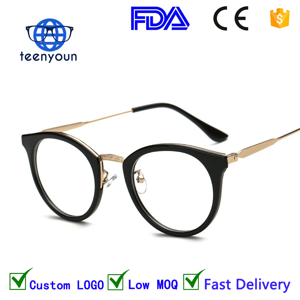 815a7f1f6c22 2018 New Style Anti Radiation Goggles Plain Glass Spectacles Fashion Women  Metal TR90 Frame Glasses Colorful Optical Goggles cat