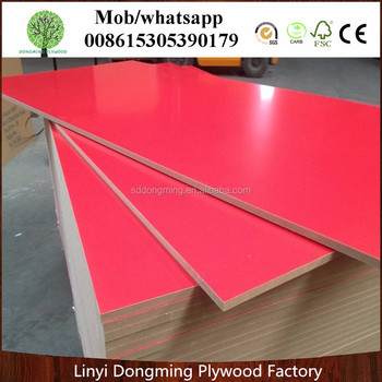 Red Color Melamine Mdf Board Laminated Gray Product On Alibaba