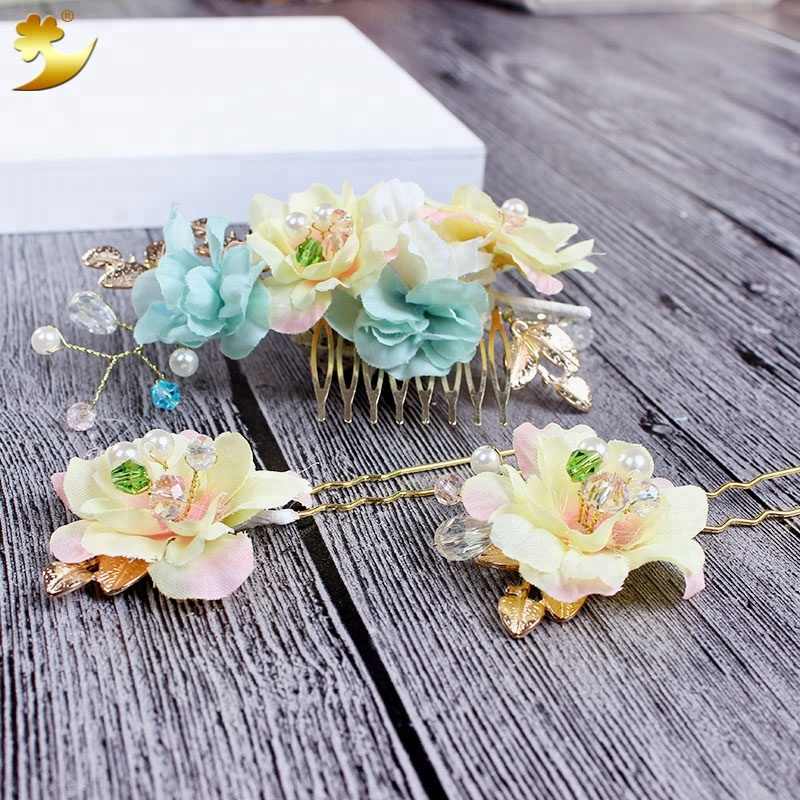 Wholesale wedding bride hair accessory hair pin simple temperament daily dress match hair pin comb