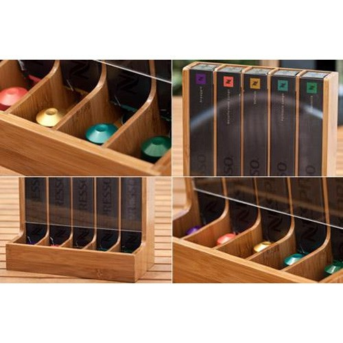 Bamboo Coffee Capsule Holder And Dispenser 5