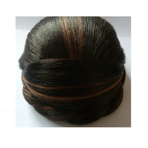 China supplier Afro-American Euro-American hair bun korea CU low temperature price chignon hair pieces bun