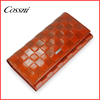 2016 grid embossed metal frame wallet ladies handmade purse,porte monnaie