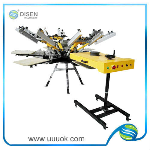 High precision 6 color screen printing machine