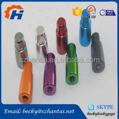 colorful anodized metal products wiring turning drilling tapping cnc machining service