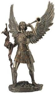 4.13 Inch Archangel Saint Michael Standing on Demons Head