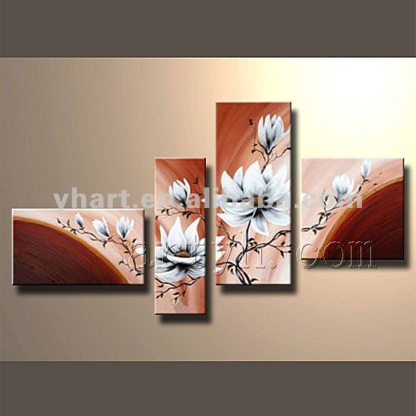 Hot Sell Handmade Decorative Canvas Oil Painting With Gallery Warp