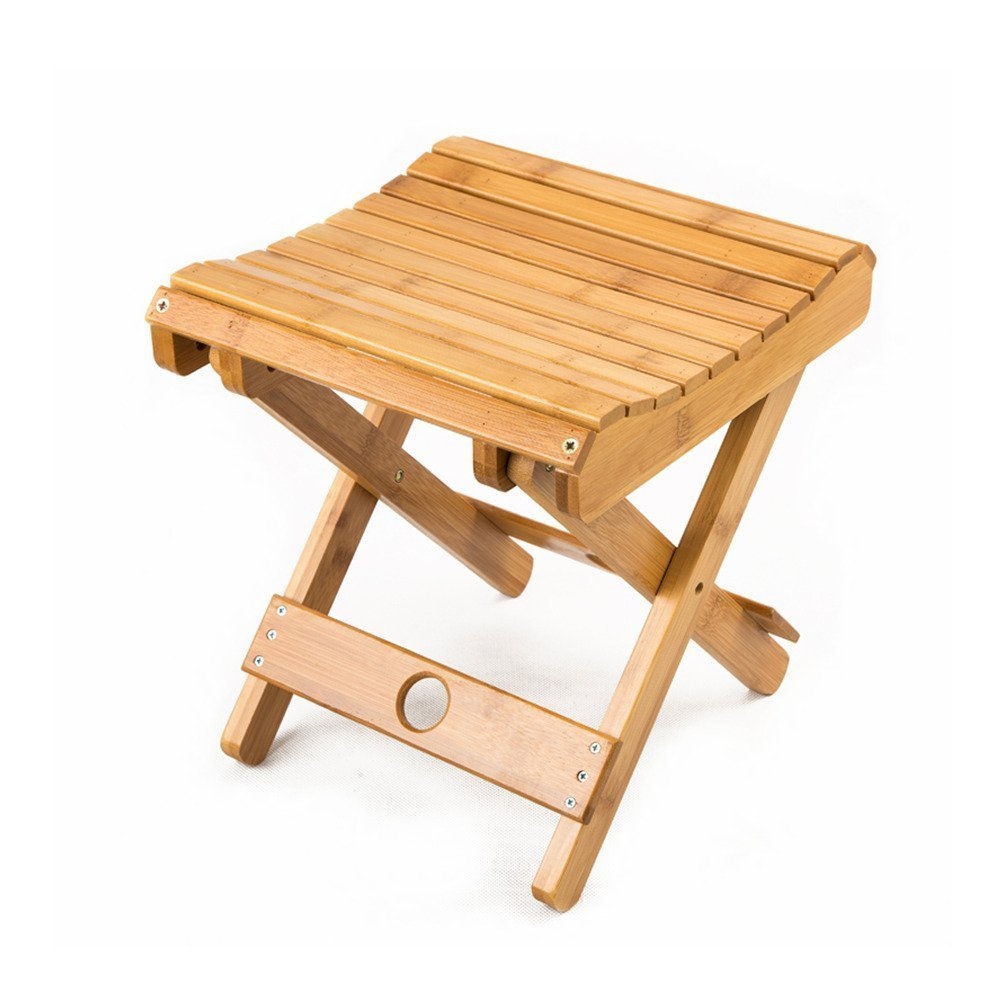 Multifunctional Foldable Bamboo Shower Stool Seat For Kids Fishing ...