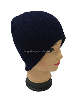 Fashion top selling wholesale factory hipster hat plain black beanie hat  soft crochet warmer polyester winter 97f16394469