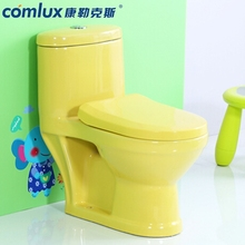 Cheap one piece sanitary ware children colored commode floor mounted washdown blue color toilet bowl