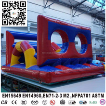 outdoor trampoline inflatable obstacle course challenge for team training