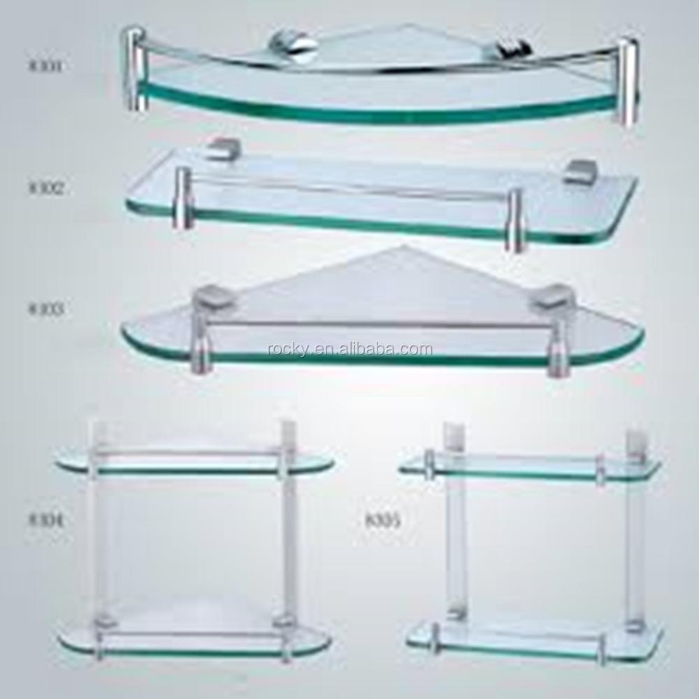 4 Tier Tempered Glass Corner Shelves, 4 Tier Tempered Glass Corner ...