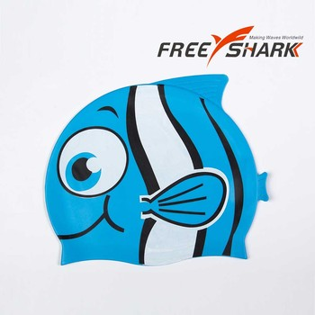 Sport Style Wholesale Print Silicone Swimming Cap,Funny Silicone Swimming Caps