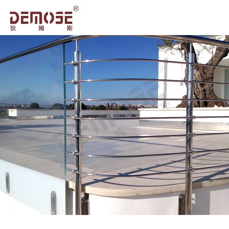 Dengan Harga Murah Railing Balkon Cover Melengkung Stainless Steel