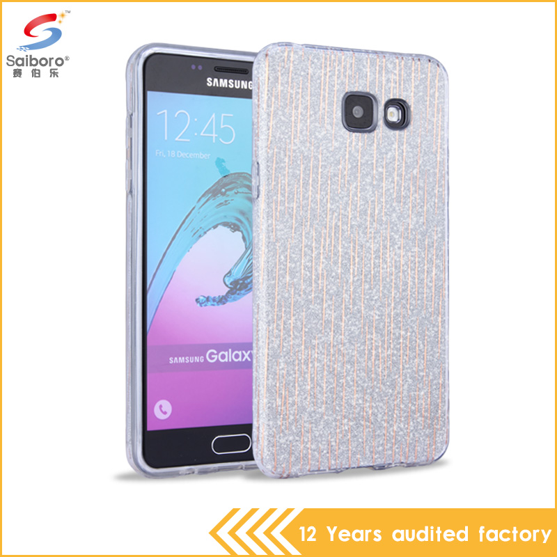 3 in 1 Bling Bling star glitter pc with tpu phone cover case for samsung galaxy a5 2016 case