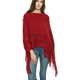 Custom women beach poncho Women's Winter Coats scarf Cable Knit Ruffle Wool Poncho Sweater for ladies with Fringed Hems