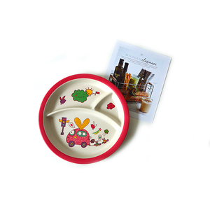 Eco-friendly Wholesale No Melamine Kids Dinnerware Set Natural Material Bamboo Tableware