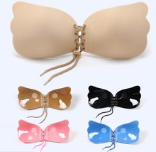Sexy Deep V-shaped Gel Invisible Backless Bra Self Adhesive Strapless Bandage Silicone Breast Lift Push Up fly wing Bras
