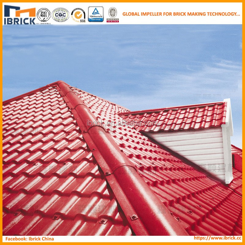 Masonry Construction Materials Synthetic Resin Chinese Roof Tile