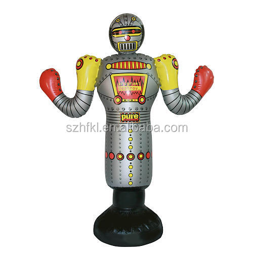 inflatable robot punching bag dummy for kids exercise