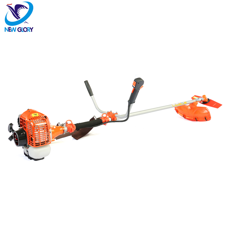Side-pack gasoline tractor grass cutter machine