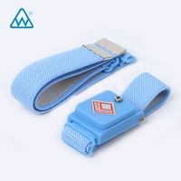 Manufacturer Blue PU ESD Wired Wrist Band Antistatic Wrist Strap