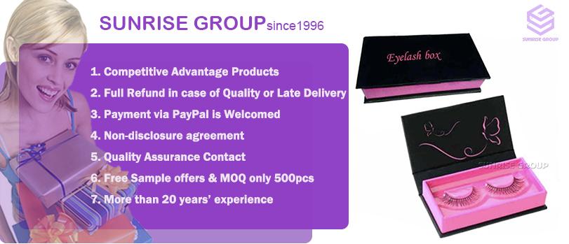 Custom Cardboard Packaging Eyelash Gift Paper Printing Cosmetic Magnetic Closure Box