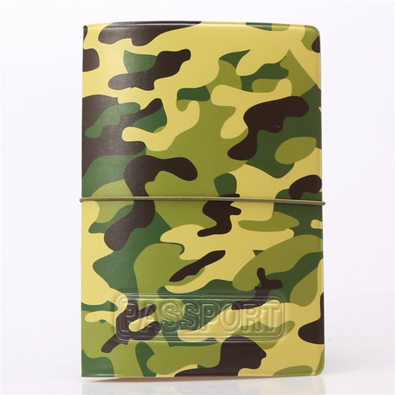 2015 NEW camouflage Passport Cover ID Credit Card Holder 3D Design PVC Leather Business Card Bag Passport Holder 14*9.6CM