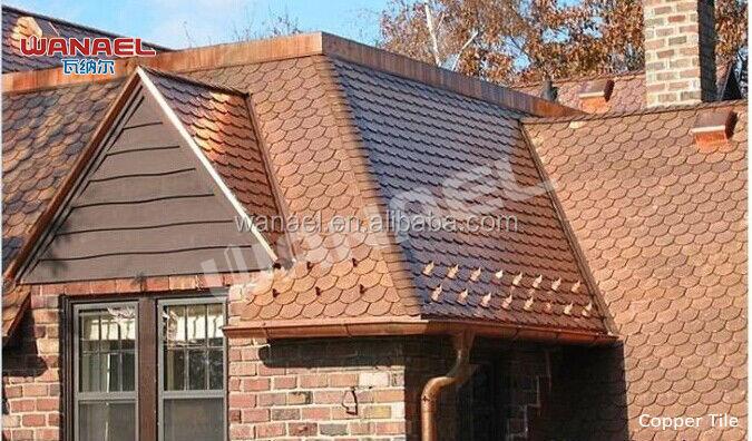 Fish Scale Roof Tile Copper Roof Shingle Copper Asphalt